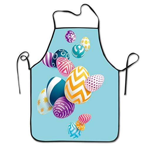 MZZhuBao 3d Easter Eggs Fun novelty kitchen apron cooking barbecue party apron gifts