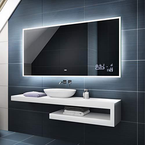 Artforma Badspiegel 60x70 cm mit LED Beleuchtung - Wählen Sie Zubehör - Individuell Nach Maß - Beleuchtet Wandspiegel Lichtspiegel Badezimmerspiegel - LED Farbe zu Wählen Kaltweiß/Neutralweiß L49