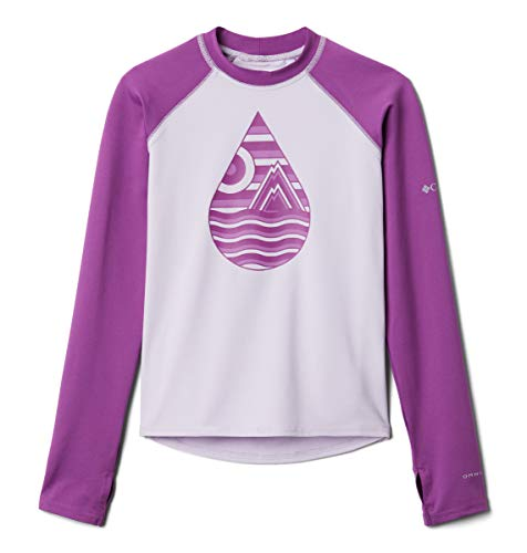 Columbia Toddler Unisex Sandy ShoresPrinted Long Sleeve Sunguard, Pale Lilac/Berry Jam, 2T