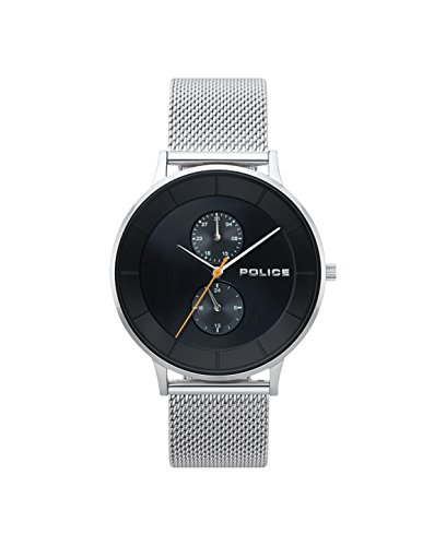 Police Herren Multi Zifferblatt Quarz Uhr mit Edelstahl Armband PL.15402JS/02MM