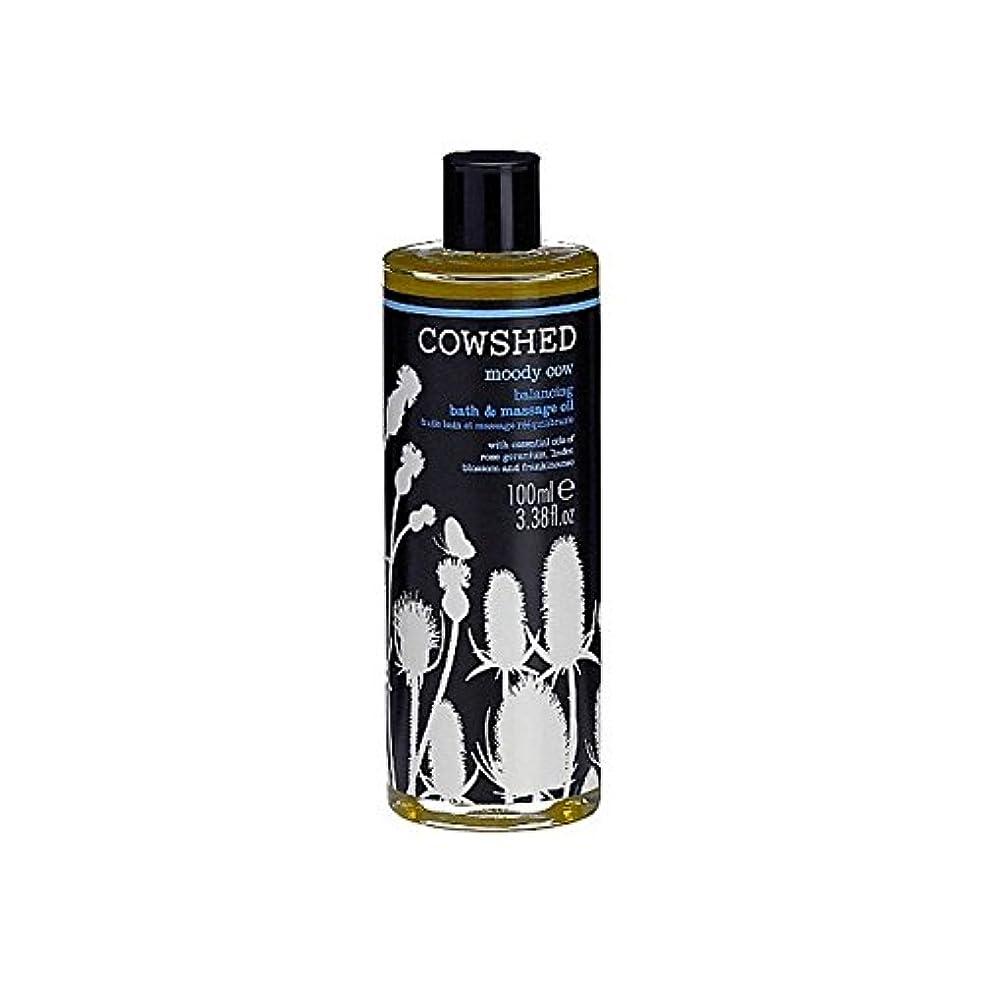 降下感嘆符ファブリックCowshed Moody Cow Balancing Bath And Body Oil 100ml (Pack of 6) - 牛舎ムーディー牛均衡バス、ボディオイル100ミリリットル x6 [並行輸入品]