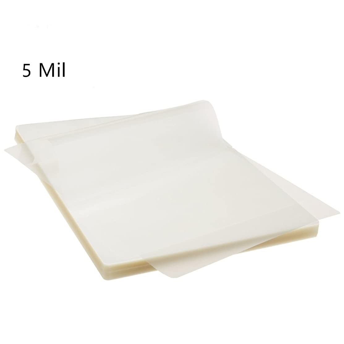 Hybsk Thermal Laminating Pouches,5 Inches x 7 Inches,2 Mil Thick,Hot Clear Glossy (100 Pack)