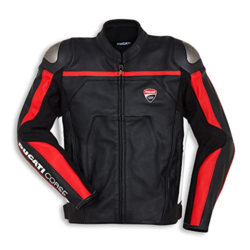 Ducati Corse C4 Herren Lederjacke perforiert schwarz/rot Größe 60