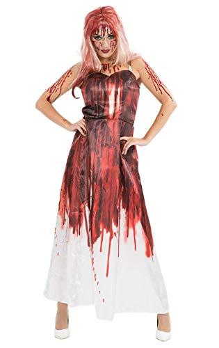 Deluxe Carrie Kostüm Halloween Karneval Verkleidung Damen Small/Medium