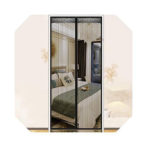 Eileen Ford Kompakt und leicht Anti-Moskito-Türvorhang Home Magic Tape Bildschirm Tür Magnet Bildschirm Tür Trennvorhang Magnet Anti-Moskito-Bildschirm Tür-B-90x210cm