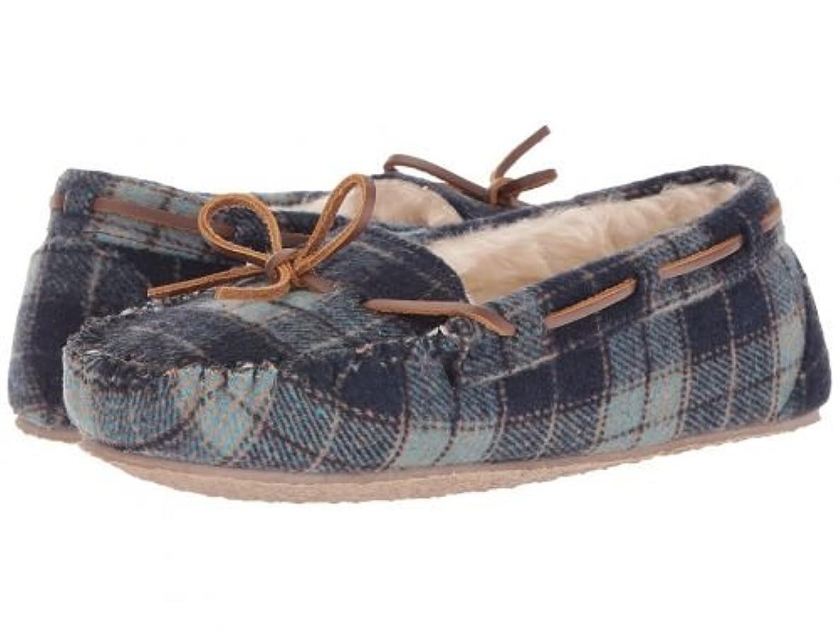 割り当て一時停止ドアMINNETONKA(ミネトンカ) レディース 女性用 シューズ 靴 ローファー ボートシューズ Plaid Cally - Navy Plaid [並行輸入品]