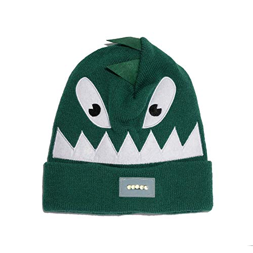 Igloos Kids Lighted Animal Critter Cuff Cap - Outdoor Hat for Cold Winter Weather Verdant Green