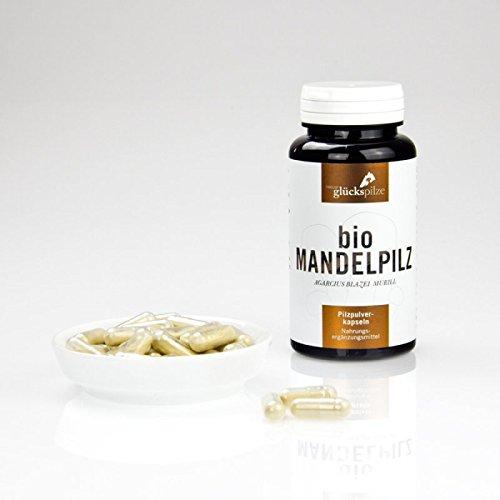 Mandelpilz Pulver BIO - Agaricus blazei Murril BIO Pilzpulverkapseln 120 Stk. Österreichisches Bio-Produkt, kein Chinaimport