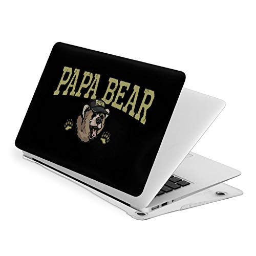 Papa Bear Funny MacBook Air 13 Inch Case Slim Fits with A1932 Hard Shell Protective Cover Compatible with Apple Mac Air 13