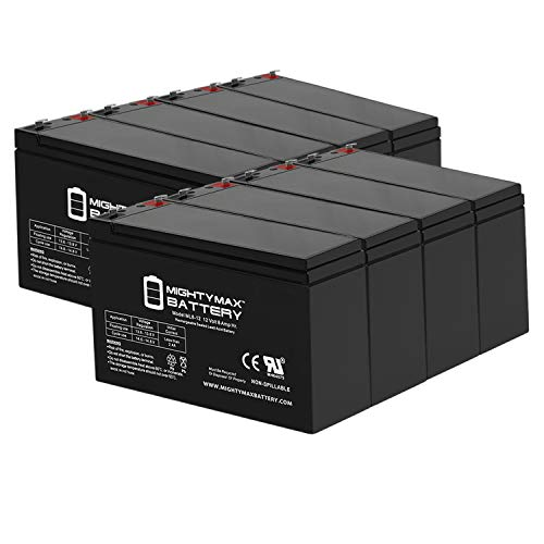 Mighty Max Battery 12V 8Ah UPS Battery Replacement for APC Back-UPS ES BE550G - 8 Pack Brand Product