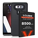LG V20 Battery, LCLEBM 8500mAh V20 Replacement Battery, LG V20 Extended Battery BL-44E1F with Black TPU Case for LG H910 H918 V995 LS997 Phone | 12 Months Service
