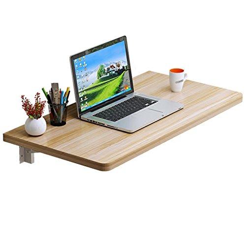 HTDZD Table de Travail Pliante en Bois Massif pour Table de Travail à Double Support d'ordinateur (Couleur: Noyer Clair, Taille en Option) (Taille : 120 * 30cm)