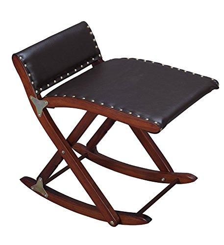 Sgabello in legno per le gambe anche chiamato gamba dondolo pieghevole