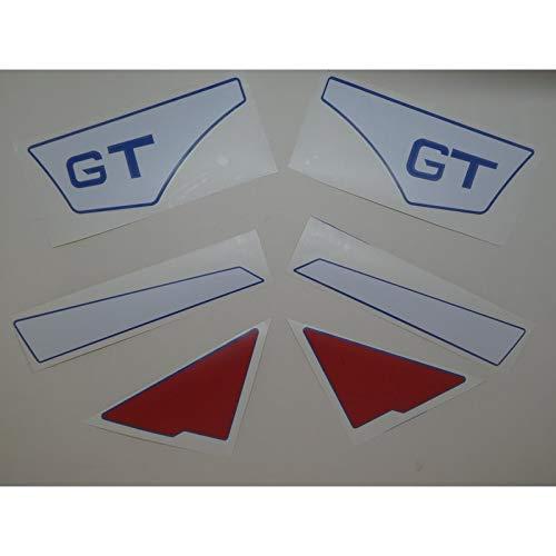 Hercules Prima GT Lacksatz, Ersatzteil Sticker für Seitenverkleidung und Seitendeckel Schriftzug Dekor. Zum Oldtimer Restaurieren von Lack und Verkleidung. Alternativ zum Motorrad Emblem