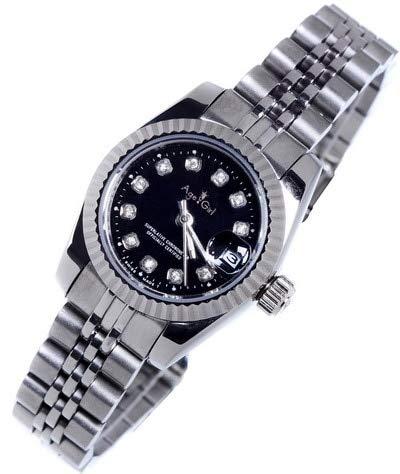 HHBB Mujeres de lujo acero inoxidable zafiro reloj señora automático mecánico diamante plata oro negro Datejust Aaa+ plata negro