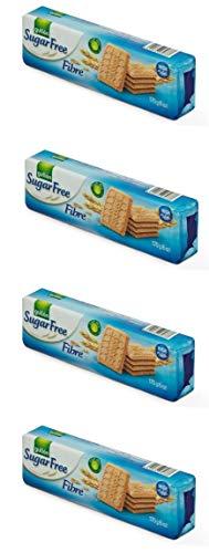 Gullon Galletas de fibra sin azúcar 170 g (paquete de 4)