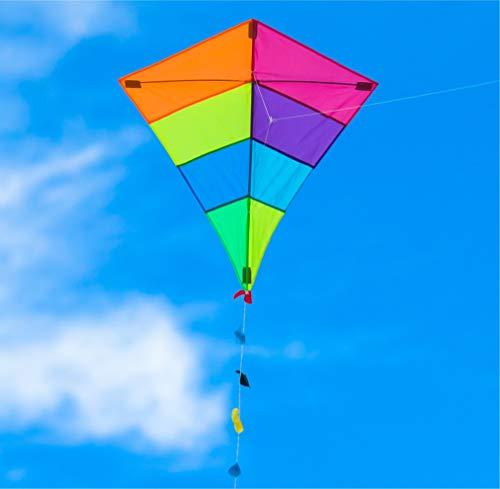 TK Gruppe Timo Klingler Drachen 65x74 cm als Flugdrachen mit Drachenleine für Kinder ab 3 Jahren - Flugspielzeug Drachenflieger Einleiner Kinderdrachen