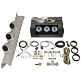 GlowShift Diesel Gauge Package for 2010-2018 Dodge Ram Cummins 1500 2500 3500 - White 7 Color 60 PSI Boost,...
