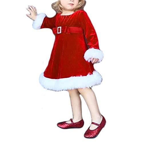 Loalirando Abiti di Natale Bambina Neonata a Manica Lunga Vestiti Bambina Invernali Costume di Natale Bambina