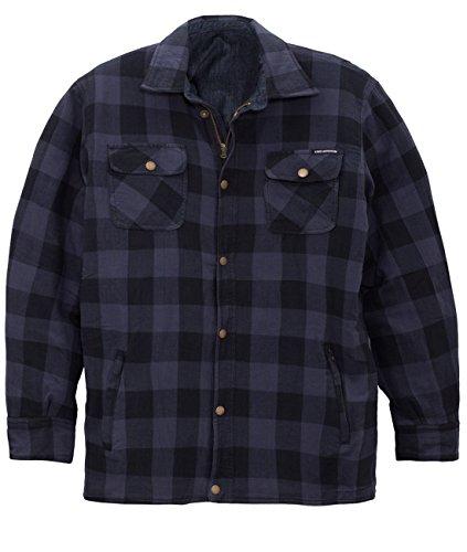 King Kerosin Herren Holzfäller/Denim Kevlar Wendejacke - Turning Shirt Blau Jacke XXL