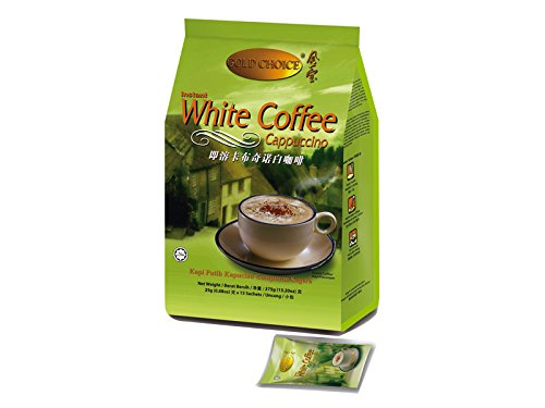 Malaysia Gold Choice/Instant White Coffee/Cappuccino/Bold Coffee Taste With Light Foamy Texture/15s x 25g