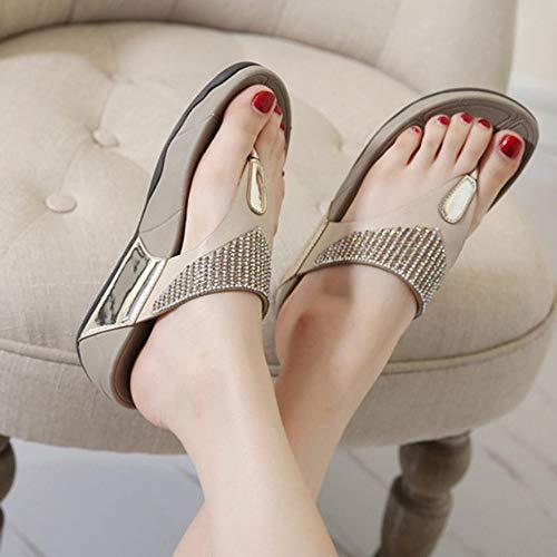 Zapatos con flip-flop Sandalias planas Sandalias de verano de moda Zapatos para...