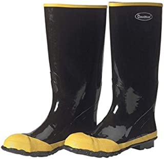 Liberty DuraWear Rubber Fabric Lined Protective Men's Knee Boot with Yellow Steel Safety Toe, 16
