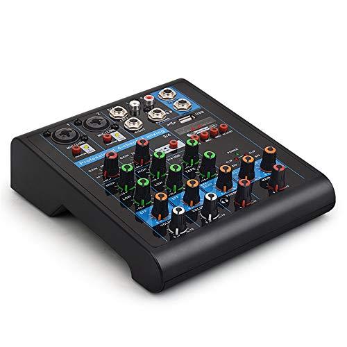 XJLJ Controlador de DJ Inteligente 4-Canal Mezclador pequeño de Bluetooth con la Conferencia Rendimiento Karaoke Efecto de reverberación Inicio Live Stage Mesas de Mezcla