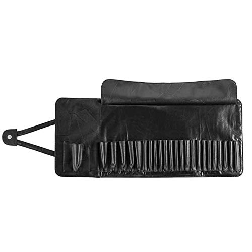 BASSK Professionnel 12/24 Slot Makeup Brush Holder Cosmetic Organizer Rolling Bag Case Container Pouch Sacs