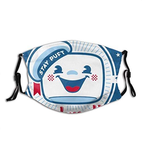 No dream Stay Puft Marshmallows Gesichtsschutz quadratischer Schal Outdoor Winddicht Staubdicht Nahtlos Wiederholbar Waschbar Verstellbar Ohrbügel für Männer Frauen Kinder