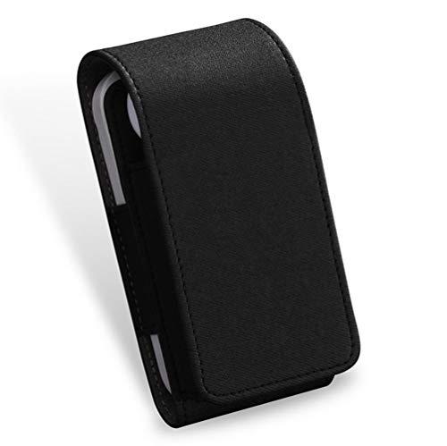 JanTeelGO Custodia per Sigarette elettroniche iQOS, Porta Sigarette Elettroniche, Custodia Protettiva di Similpelle da Viaggio per E-Sigaretta e Accessori, Organizzatore da Cintura (Grigio Scuro)