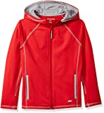 Amazon Essentials Full-Zip Active Jacket, outerwear-jackets Niños, Rojo, L (Talla fabricante: 10)