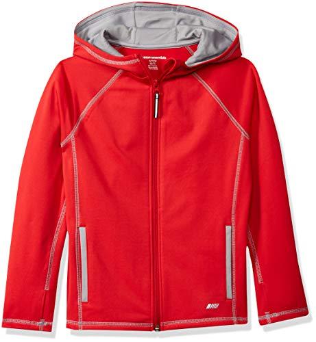 Amazon Essentials Jungen Full-Zip Active Jacket Jacke, Rot (Red), M