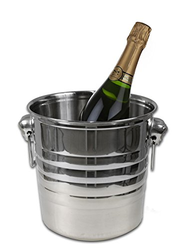 Vetrineinrete® Secchiello porta ghiaccio cestello refrigeratore seau à glace porta bottiglie per acqua vino champagne cooler con manici da bar enoteca C34