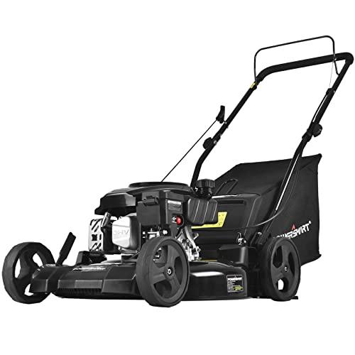 PowerSmart Lawn Mower, 21-inch & 170CC, Gas Powered Push Lawn Mower with...