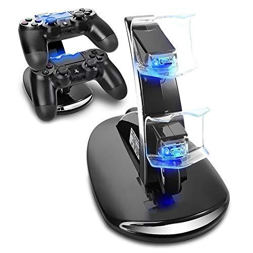 Expresstech @ Dualshock Ladegerät Halterung Stand Ständer Dockingstation Ladestation Mit LED Indicator Für Sony Playstation 4 PS4 Slim PS4 Pro Dualshock Controller