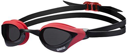 arena Unisex Training Wettkampf Schwimmbrille Cobra Core (UV-Schutz, Anti-Fog Beschichtung, Weiche Gläser), Smoke-Red (45), One Size