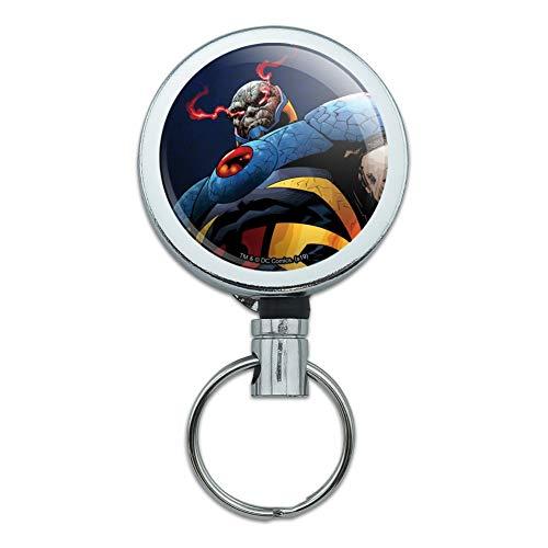 Superman Darkseid Character Heavy Duty Metal Retractable Reel ID Badge Key Card Tag Holder with Belt Clip