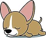 Cute Sleepy Lazy Chihuahua Puppy Dog Cartoon Vinyl Sticker (2' Tall, Chihuahua)