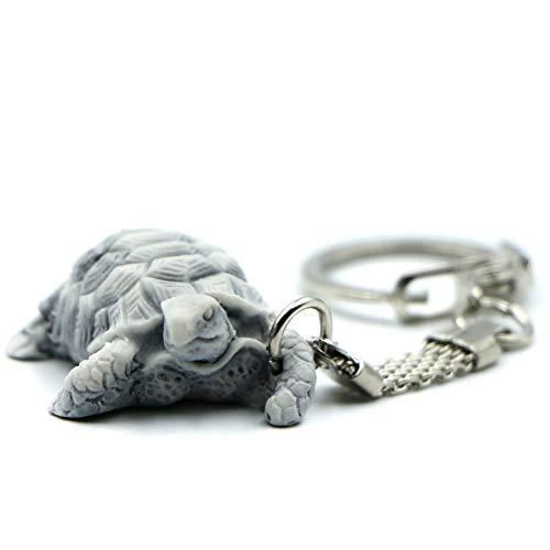Llavero con diseño de tortuga, divertido llavero 3D para hombre y mujer, hecho de arena de mármol con resina, bonito accesorio regalo para aniversario