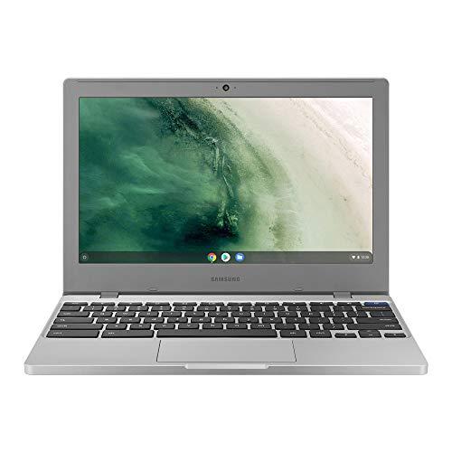2021 Samsung Chromebook 4 11.6 Inch Laptop with Webcam| Intel Celeron N4000 up to 2.6 GHz| 4GB LPDDR4 RAM| 32GB eMMC| Bluetooth| Chrome OS + NexiGo 128GB MicroSD Card Bundle