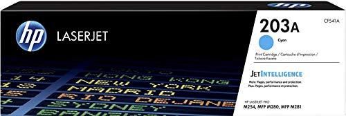 HP 203A CF541A Cartuccia Toner Originale da 1300 Pagine, Compatibile con le Stampanti Color LaserJet Pro MFP Serie M250 e M280, Ciano