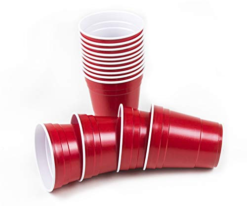 10 Oz Red BeerCup's Rote Party Becher US-College Style 100 Becher