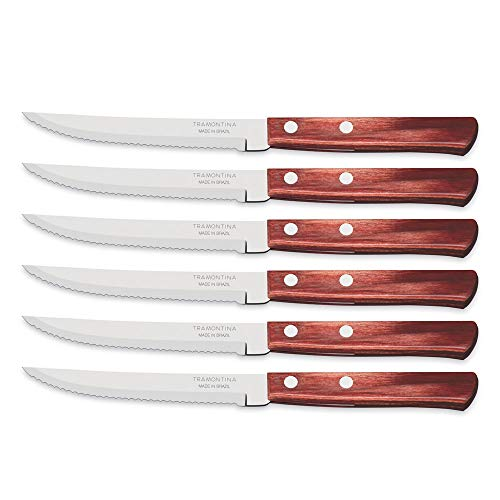 Tramontina 29899/154 à Steak/Couteaux à Pizza, Rouge, 12,7 cm