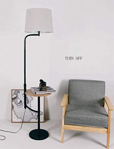 Luz de Piso LED Sombra de Lino Estante Vertical Luces de Piso para Sala de Estar Lámpara Creativa de cabecera incluida para lámpara de Dormitorio