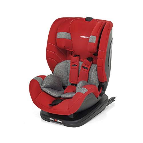 Foppapedretti Seggiolino Auto Flash Gruppo 1,2,3 (9-36 Kg) per bambini da 9 Mesi a 12 Anni circa, Cherry, Collezione 2021