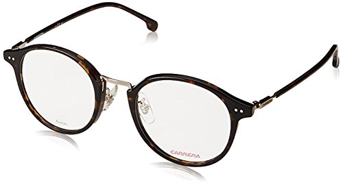 Carrera CA160/V/F Round Prescription Eyeglass Frames, Tortise/Gold, 48 mm