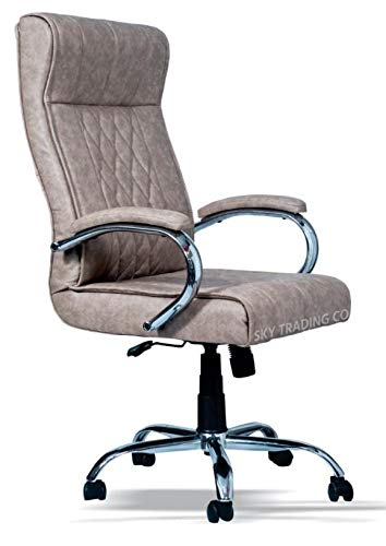 Sky REVOLVING Office Chairs/BOSS Series/Director Chairs/HIGH Back Chairs(Beige Color)