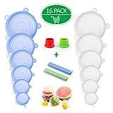 SPLAKS Coperchio in Silicone Estensibile, 16 Pack Coperchi Stretch Conservazione Alimenti ...