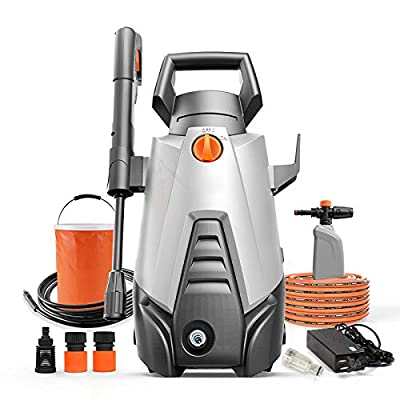 QXMEI Portable Electric High Pressure Cleaner 350W 2.8L / Min 34bar-50bar High Pressure Washer For Home Garden, Car Washing Machine,Grey-E by QXMEI